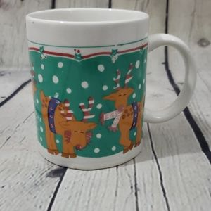 Vintage Reindeer Christmas Holiday Coffee Mug